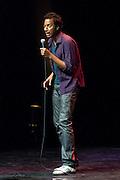 Nederland Eindhoven 1 februari 2014.<br /> Stand-up comedian Samba Schutte voor een eenmalig gast optreden terug in Nederland tijdens de Culture Comedy Award 2014 in het Park Theater.<br /> Lukas Lelie werd de winnaar van de Culture Comedy Award 2014.<br /> Foto: Jan Boeve
