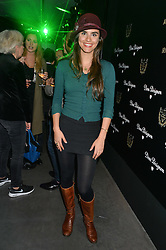 Actress LARA HELLER at a reception to celebrate Dom Perignon and Iris van Herpen's collaboration 'Metamorphosis' held at the Hus Gallery, 10 Hanover Street, London on 27th October 2014.
