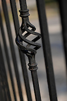Wrought Iron railings can be decorative safety feature on balconies.