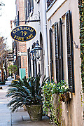 Shops along Church Street in historic Charleston, South Carolina.