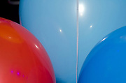 close up of Colorful party balloons