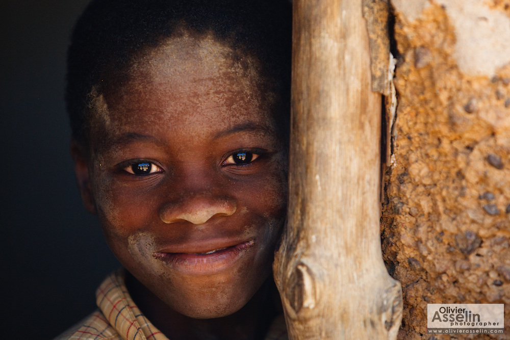 Portrait of a boy in the village of Popoko, Bas-Sassandra region, Cote d'Ivoire on Tuesday March 6, 2012.