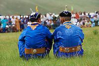 Mongolia, province de Bulgan, fete du Naadam, tournoi de lutte // Mongolia, Bulgan province, Naadam festival, wrestling tornament