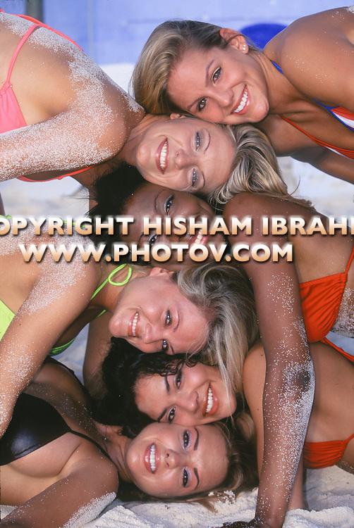 Group of sexy women in bikini, Cancun, Mexico