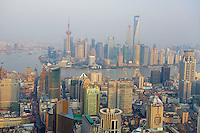 Chine, Shanghai, le Bund et Pudong, vue générale //  China, Shanghai, Pudung and the Bund, general view