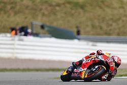 14-juli-2018 Sachsenring - Pramac Motorrad Grand Prix Deutschland - De spanjaard Marc Marquez start zondag tijdens de MotoGP race in het duitse Sachsenring vanaf een pole positie. De huidige leider in het wereldkampioenschap wist Danilo Petrucci (ITA) en Jorge Lorenzo (SPA) achter zich te houden.