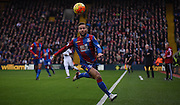 Yohan Cabaye looks to keep the ball in play during the Barclays Premier League match between Crystal Palace and Swansea City at Selhurst Park, London, England on 28 December 2015. Photo by Michael Hulf.