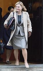 Downing Street, London, November 29th 2016. Education Secretary Justine Greening leaves 10 Downing Street following the weekly cabinet meeting.