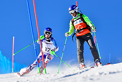 KUBACKA Marek, Guide: ZATOVICOVA Maria, B1, SVK, Slalom at the WPAS_2019 Alpine Skiing World Cup, La Molina, Spain