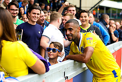 Stefan Payne of Bristol Rovers poses for a picture with a fan - Mandatory by-line: Robbie Stephenson/JMP - 18/08/2018 - FOOTBALL - Adam's Park - High Wycombe, England - Wycombe Wanderers v Bristol Rovers - Sky Bet League One