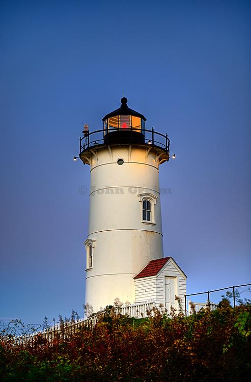 Nobska Point Light, Woods Hole, Cape Cod, MA, Massachusetts, USA