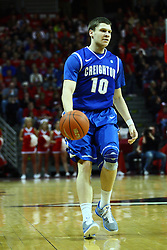 13 January 2012:  Grant Gibbs during an NCAA Missouri Valley Conference mens basketball game where the Creighton Bluejays topped the Illinois State Redbirds 87-78 in Redbird Arena, Normal IL