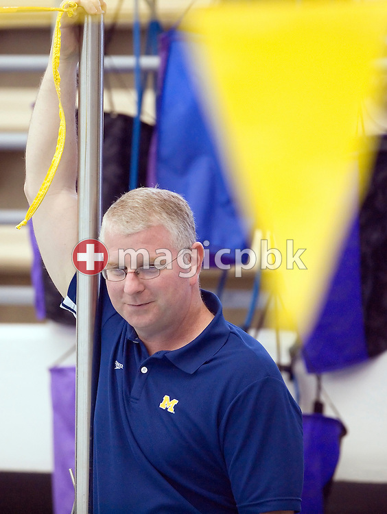 Coach Bob BOWMAN of the USA is pictured during a training session in the Canham Natatorium at the University of Michigan in Ann Arbor, MI, USA, Wednesday, May 21, 2008. (Photo by Patrick B. Kraemer / MAGICPBK)