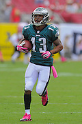 Philadelphia Eagles wide receiver Damaris Johnson (13) during the Eagles 31-20 win over the Tampa Bay Buccaneers on Oct. 13, 2013 in Tampa, Florida. <br /> <br /> ©2013 Scott A. Miller