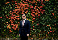 David Ogilvy, one of Greenwich, CT most successful realtors, poses for a portrait Saturday Nov. 8, 2008. Ogilvy represents Christie's Great Estates at David Ogilvy and Associates. Ogilvy, who has been a realtor in Greenwich for 35 years, said he has seen a decline of 4.1 % in the average sale price of homes since January 1, 2008.