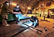 Nederland, Groesbeek, 8-12-2018In groesbeek worden veel carnavalswagens gebouwd in zgn. nissenhutten, grote golfplaten schuren, werkplaatsten,  die nog van vlak na de oorlog hier staan. Voor de komende 10 jaar zijn ze opnieuw verhuurd aan de carnavalsverenigingen.Foto: Flip Franssen