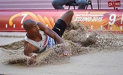 28-08-2015 CHN: IAAF World Championships Athletics day 7, Beijing<br /> Long jump Decathon / Damian Warner CAN<br /> Photo by Ronald Hoogendoorn / Sportida