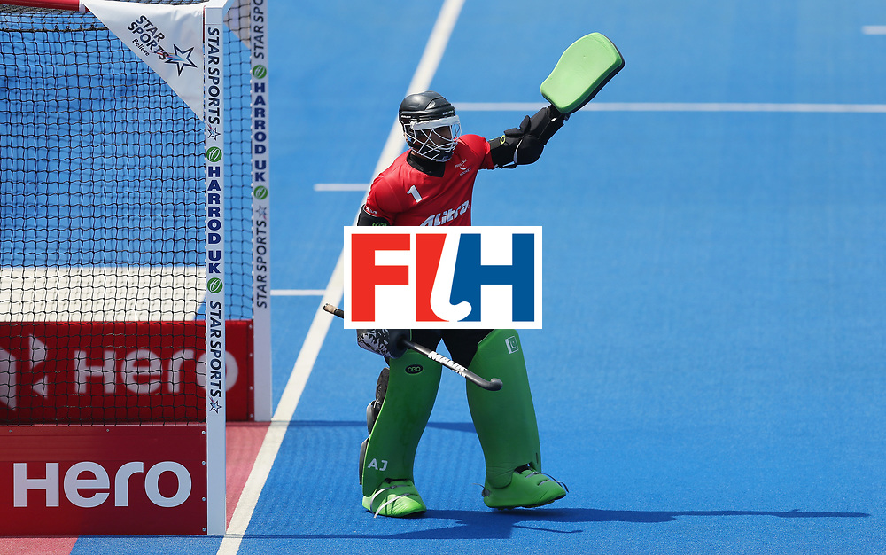 LONDON, ENGLAND - JUNE 19:  Amjad Ali of Pakistan during the Hero Hockey World League Semi-Final match between Scotland and Pakistan at Lee Valley Hockey and Tennis Centre on June 19, 2017 in London, England.  (Photo by Alex Morton/Getty Images)