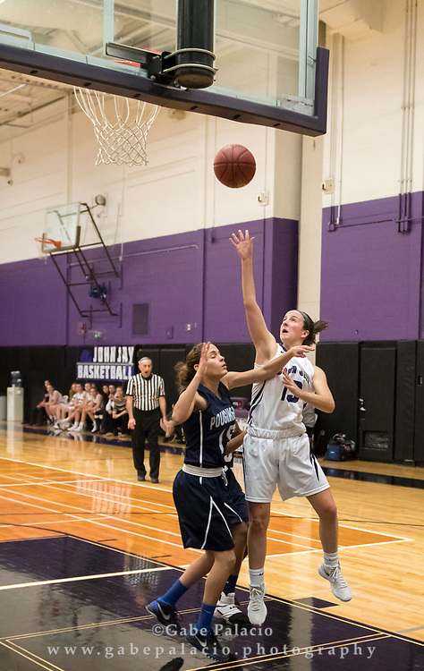 John Jay Girls Varsity Basketball game  on January 2, 2018. (photo by Gabe Palacio)