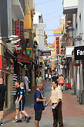 Shopping streets and bars Benidorm, Alicante province, Spain