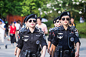 Attractive Women Police Patrol China