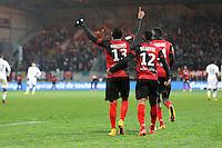 Joie Christophe MANDANNE - 03.12.2014 - Guingamp / Caen - 16eme journee de Ligue 1 <br />Photo : Vincent Michel / Icon Sport