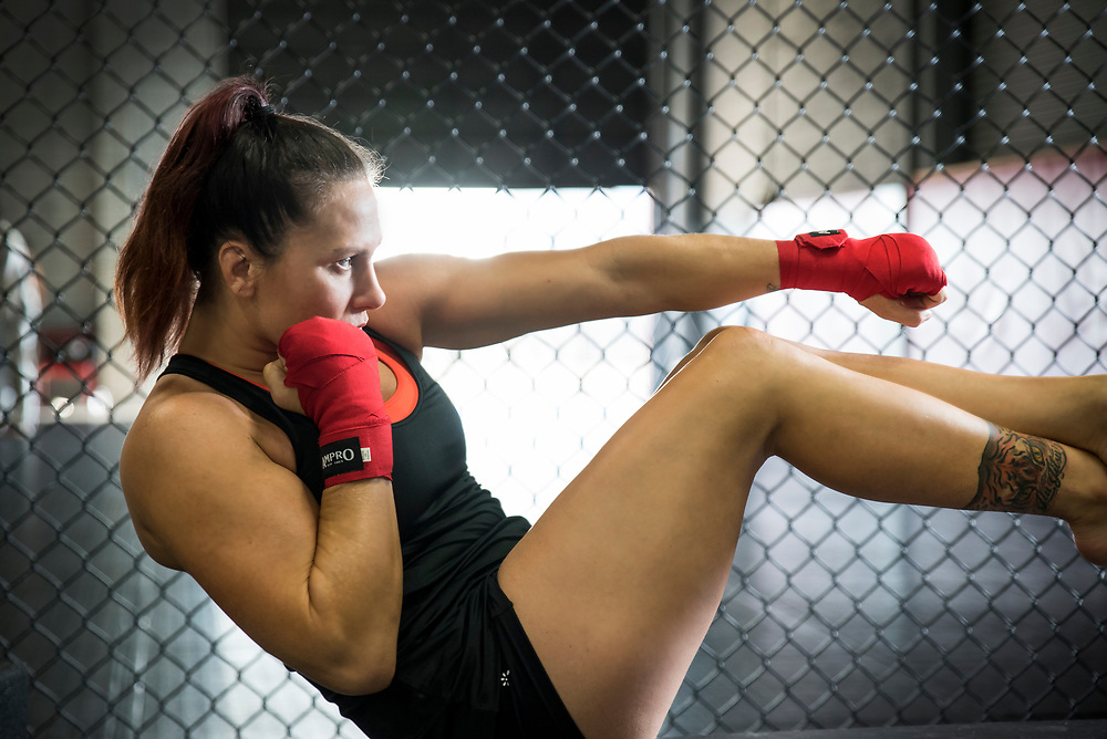 Los Angeles Fitness Photographer, Los Angeles Fitness Photographers. Fitness Photoshoot of MMA Fighter, Cat Zingano for book Train Like a Fighter photographed by Robert Randall Productions at Alliance MMA Gym in San Diego, CA