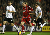 Photo: Paul Greenwood/Sportsbeat Images.<br />Liverpool v Fulham. The FA Barclays Premiership. 10/11/2007.<br />Liverppol's Andriy Voronin is clear through on  goal