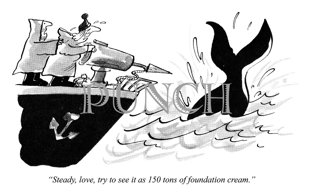 """Steady, love, try to see it as 150 tons of foundation cream."""