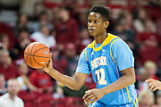 FAYETTEVILLE, AR - NOVEMBER 13:  Jarred Sam #12 of the Southern University Jaguars makes a pass during a game against the Arkansas Razorbacks at Bud Walton Arena on November 13, 2015 in Fayetteville, Arkansas.  The Razorbacks defeated the Jaguars 86-68.  (Photo by Wesley Hitt/Getty Images) *** Local Caption *** Jarred Sam