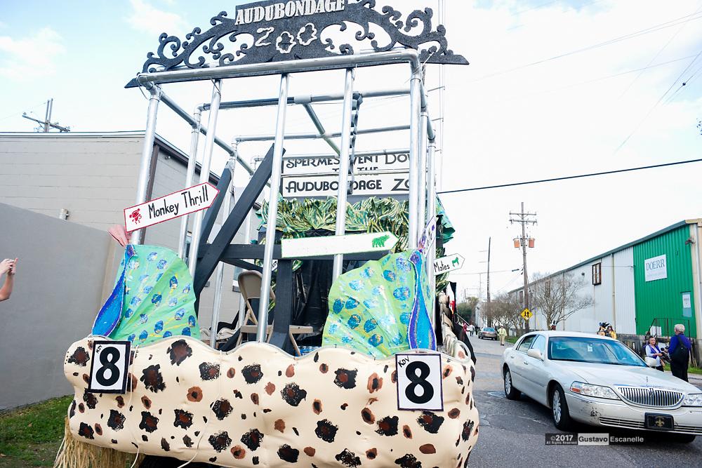 Krewe Du Vieux 2017 with Krewe Du Lewd Rolls through the Marigny, French Quarter to the Civic Center on Saturday, February 11, 2017<br /> #kreweDuVieux #mardigras2017#KreweDuLewd