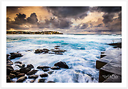 Stormy afternoon in winter at Bondi Beach, Sydney [Bondi, NSW]<br />