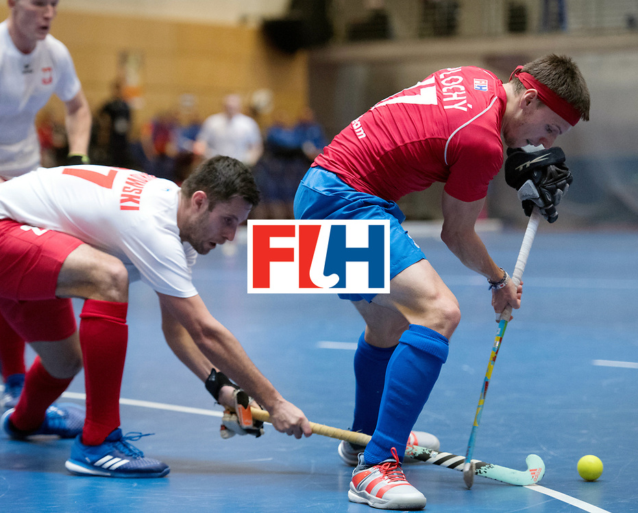 BERLIN - Indoor Hockey World Cup<br /> Czech Republic - Poland<br /> foto: Lukas Ploch&yacute; <br /> WORLDSPORTPICS COPYRIGHT FRANK UIJLENBROEK