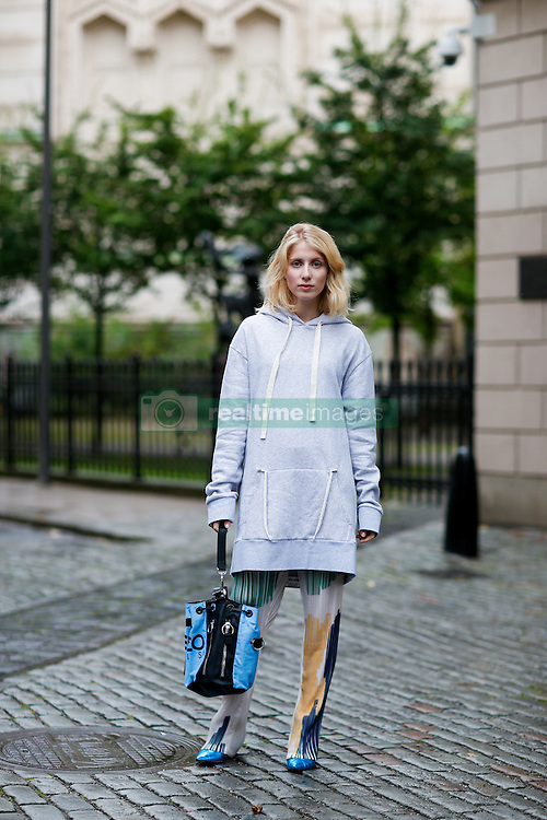 Street style, Laura Tonder arriving at By Malina Spring Summer 2017 show held at Berns Hotel Berzelii Park, in Stockholm, Sweden, on August 29, 2016. Photo by Marie-Paola Bertrand-Hillion/ABACAPRESS.COM