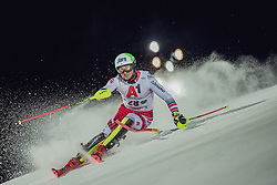 "29.01.2019, Planai, Schladming, AUT, FIS Weltcup Ski Alpin, Slalom, Herren, 1. Lauf, im Bild Marc Digruber (AUT) // Marc Digruber of Austria in action during his 1st run of men's Slalom ""the Nightrace"" of FIS ski alpine world cup at the Planai in Schladming, Austria on 2019/01/29. EXPA Pictures © 2019, PhotoCredit: EXPA/ Dominik Angerer"