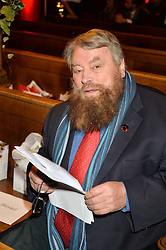 BRIAN BLESSED at the fourth annual Fayre of St James's charity Christmas concert hosted by the Quintessentially Foundation and The Crown Estate in partnership with Deutsche Asset & Wealth Management held at  St James's Church, 197 Piccadilly, London followed by a party at Quaglino's 16 Bury Street, London on 24th November 2015.