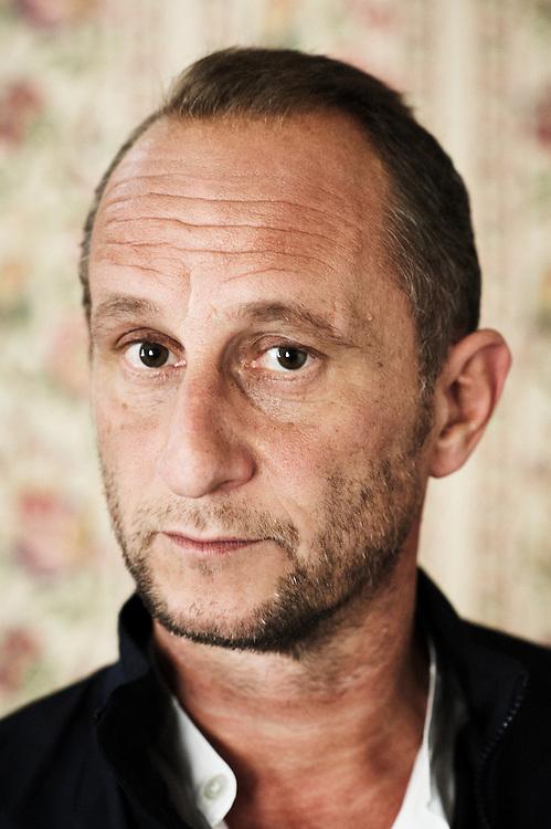 PARIS, FRANCE. SEPTEMBER 9, 2011. Belgian actor Benoit Poelvoorde at the Hotel de l'Abbaye. Photo: Antoine Doyen