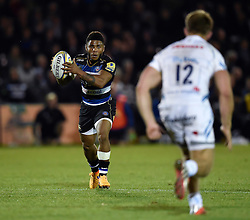 Kyle Eastmond of Bath Rugby in possession - Mandatory byline: Patrick Khachfe/JMP - 07966 386802 - 10/10/2015 - RUGBY UNION - The Recreation Ground - Bath, England - Bath Rugby v Exeter Chiefs - West Country Challenge Cup.