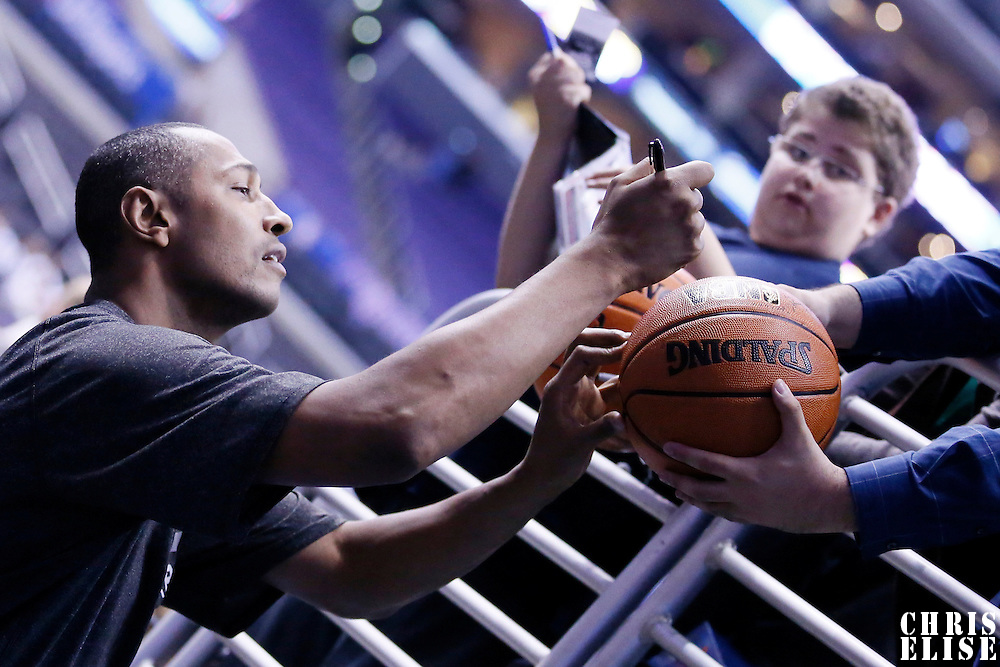 18 February 2014: San Antonio Spurs power forward Boris Diaw (33) signs autographs prior to the San Antonio Spurs 113-103 victory over the Los Angeles Clippers at the Staples Center, Los Angeles, California, USA.