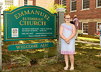 First Communion celebration at Emmanuel Lutheran Church in Norwood MA on July 12, 2020.