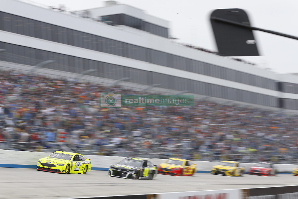 May 6, 2018 - Dover, Delaware, United States of America - Ryan Blaney (12) brings his race car down the front stretch during the AAA 400 Drive for Autism at Dover International Speedway in Dover, Delaware. (Credit Image: © Chris Owens Asp Inc/ASP via ZUMA Wire)