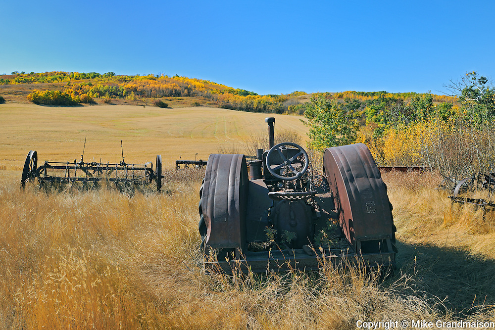 Abandonned farm machinery<br /> Baljennie<br /> Saskatchewan<br /> Canada<br /> Baljennie<br /> Saskatchewan<br /> Canada