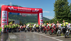 08.07.2017, Wels, AUT, Ö-Tour, Österreich Radrundfahrt 2017, 6. Etappe von St. Johann/Alpendorf nach Wels (203,9 km), im Bild Motorrad Staffel // motobike crew during the 6th stage from St. Johann/Alpendorf to Wels (203,9 km) of 2017 Tour of Austria. Wels, Austria on 2017/07/08. EXPA Pictures © 2017, PhotoCredit: EXPA/ Reinhard Eisenbauer
