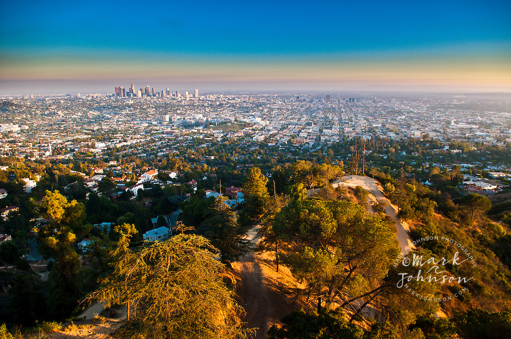 View of Los Angeles from Griffith Park, California, USA