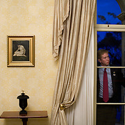 Aide to the President Jared Weinstein looks on as President Bush pays a visit to the Governor General of the Commonwealth of Australia Wednesday, September 5, 2007, in Sydney, Australia...Photo by Khue Bui