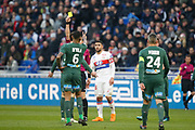 Yann M'Vila of Saint Etienne during the French Championship Ligue 1 football match between Olympique Lyonnais and AS Saint-Etienne on february 25, 2018 at Groupama stadium in Décines-Charpieu near Lyon, France - Photo Romain Biard / Isports / ProSportsImages / DPPI