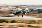 Israeli Air force F-15I Fighter jet at takeoff