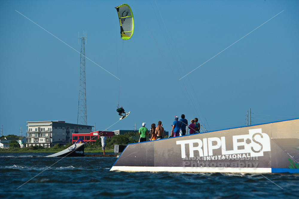 Outerbanks, NC - Andre Phillip kiteboarding at the Triple-S 2011