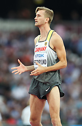 London, August 13 2017 . Mateusz Przybylko, Germany, in the men's high jump final on day ten of the IAAF London 2017 world Championships at the London Stadium. © Paul Davey.