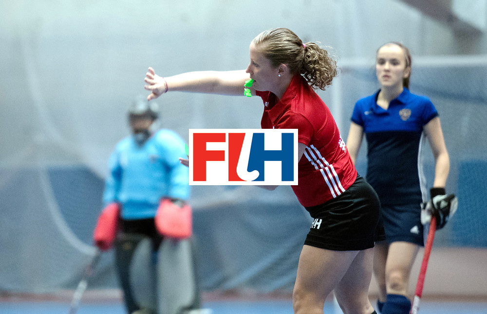 BERLIN - Indoor Hockey World Cup<br /> Kazakhstan - Russia<br /> foto: Umpire Maggie Giddens<br /> WORLDSPORTPICS COPYRIGHT FRANK UIJLENBROEK